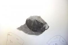 Dessin - La montagne, la roche - Crayon gris - 20193