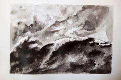 Dessin - La montagne, la roche - Encre de chine - 2018 2019014