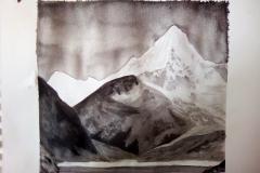 Dessin - La montagne, la roche - Encre de chine - 2018 2019015