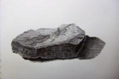 Dessin - La montagne, la roche - crayon gris - 2018 2019025