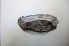 Dessin - La montagne, la roche - crayon gris - 2018 2019026