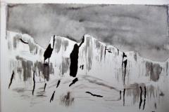 La montagne, la roche - encre de chine - Atelier Botticelli 201912