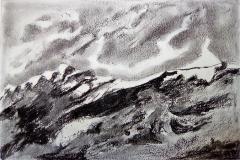 La montagne, la roche - fusain- Atelier Botticelli 20193