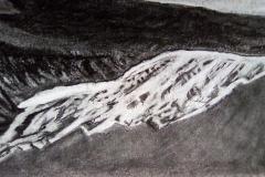 La montagne, la roche - fusain- Atelier Botticelli 20194