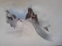 Croquis aquarellé - La neige - Stage février 2018