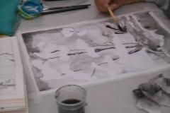 Cours de dessin - Encre de chine - L'arbre - 2015 - 2016 - 08