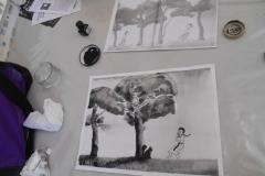 Cours de dessin - Encre de chine - L'arbre - 2015 - 2016 - 13