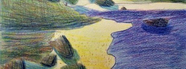 la mer - crayon de couleur - 20174